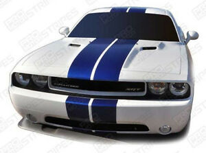 Dodge Challenger 2008 2019 Rally Double Center Stripes Decals Choose Color