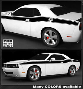 Dodge Challenger 2008 2019 Solid Cuda Side Stripes Decals Choose Color