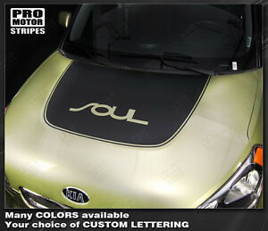 For Kia Soul 2008 2018 Hood Accent Or Blackout Stripe Decal choose Color