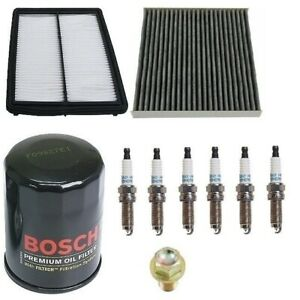 For Honda Accord 3 5 Tune Up Kit Filters Oil Cabin Air Plugs Oil Drain Plug