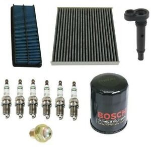 For Honda Accord 06 07 3 0 Kit Filters Air Cabin Air Pcv Valve Six Bosch Plugs