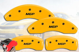2006 2007 Mercedes Benz C280 Front Rear Yellow Mgp Brake Disc Caliper Covers