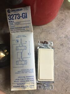 Circle F Challenger 3373 gi Quiet Rocker Switch Ivory 15a lot Of Ten