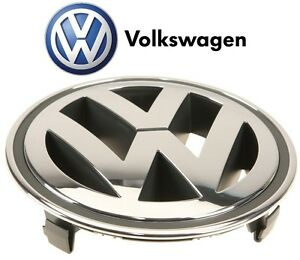 Front Grille Chrome Emblem Badge For Vw Jetta 5 Mk5 A5 Cc Tiguan 150 Mm