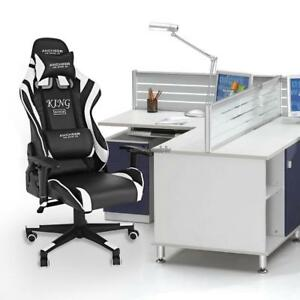 New Luxury Leather Game racing Office Desk Swivel Computer Chair Massage Clsv