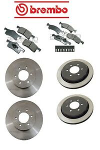For Ford Expedition Lincoln Front rear Brake Rotors W Brake Pads Kit Brembo