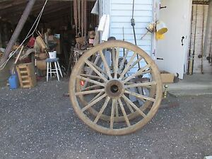 Pair Of Large 48 Antique Wagon Wheels
