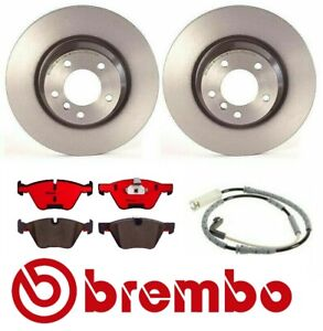 For Bmw E90 330i 330xi 2006 Front Brake Rotors Ceramic Pads With Sensor Brembo
