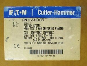 Eaton Cutler Hammer An16sn0ab 110 120v Size 5 Freedom Series Starter An16sn0