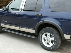 Fits 2002 2005 Ford Explorer 4 Door W Flares 5 Width Stainless Steel Rocke