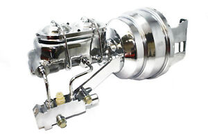 55 57 Chevy Chrome 8 Booster W Master Cylinder And Proportioning Valve