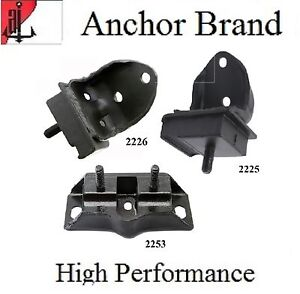 3 Pcs Front Motor Trans Mount For 1964 1966 Ford Mustang 3 3l