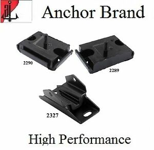 3 Pcs Front Motor Trans Mount For 1965 1967 Ford F 100 5 8l