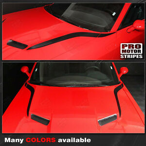 Dodge Challenger 2008 2019 Hood Cowl Side Accent Stripes Decals Choose Color