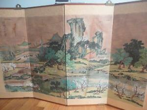 A Large Master Piece Antique Chinese Painting On Silk Signed Framed With Seal
