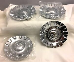 Zinik Chrome Wheel Center Cap Set Of Four Pn Zinik Coroza b
