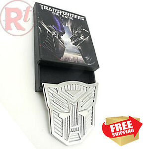 Silver Car Badge Sticker Decal 3m Fashion Style Transformers Autobots With Box