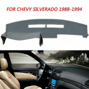 Gray Mat Dash Cover Pad For 1988 1989 1990 1994 Chevy C1500 c2500 k1500 k2500