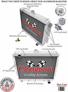 22 Inch Core Early Mopar All Aluminum 3 Row Core Kr Champion Radiator