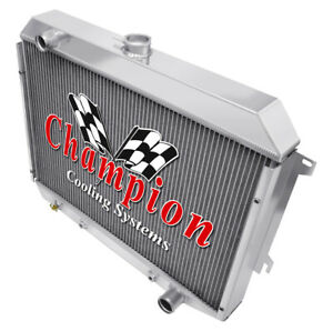 Kr Champion 3 Row Aluminum Radiator For 1970 74 Mopar 26 Core