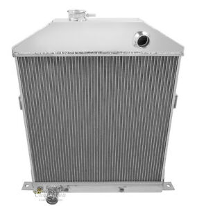 1942 1948 Ford mercury Coupe Ford Config All Aluminum 3 Row Kr Champion Radiator