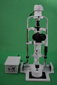 Miko 2 Step Slit Lamp Microscope With Power Source And Chin Rest Stand