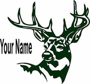 Deer Personalized Vinyl Decal Window Sticker For Your Car Truck Vehicle Bumper