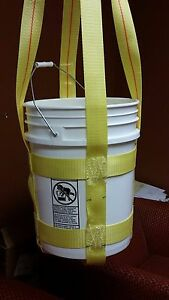 Trident Supply 5 Gallon Bucket Lifting Sling 44 Height wll 300 Lb sling Only