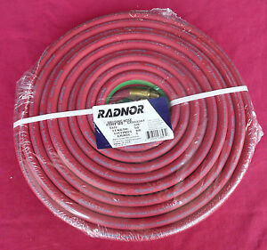 Radnor 64003347 3 8 X 50 Foot Grade T Twin Welding Hose With Bb Fittings