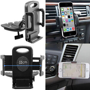 Universal Car Cd Slot Phone Mount Holder Stand Cradle For Iphone Samsung New