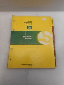 John Deere Planter Monitoring Systems Technical Manual Tm 1270