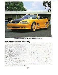 1997 1998 Ford Saleen Mustang Article Must See S 281 Supercharged