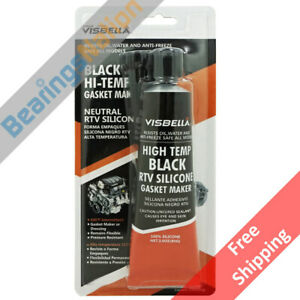 Visbella Rtv Silicone Gasket Maker Black 3 Oz High Temp 600 F Sealant