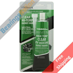 Visbella Rtv Silicone Gasket Maker Clear 3 Oz High Temp 500 F Sealant