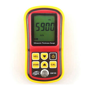 Gm100 Ultrasonic Thickness Gauge Tester Metal Width Measuring Tester 1 2 220mm