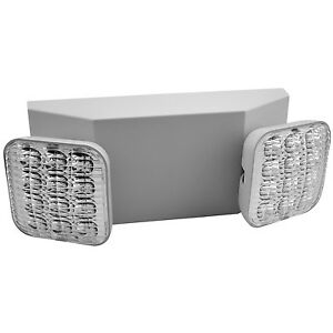 6 Pack 2 Head Led Emergency Light With Dependable Battery Back up white Body