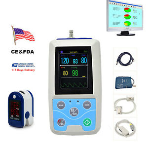 Contec Abpm50 24 Hours Ambulatory Blood Pressure Monitor Holter Free Oximeter