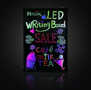 16 X 24 Flashing Led Neon Menu Sign Fluorescent Message Erasable Writing Board