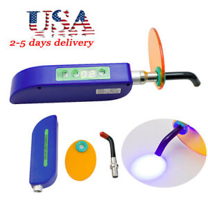 Usa Dental Wireless Cordless Led Cure Curing Light Lamp 2000mw For Dentist Blue