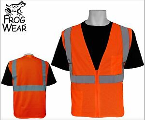 pack Of 10 3m Ansi Class 2 Mesh Safety Vest High Visibility Orange Xl X large