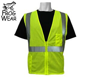 pack Of 10 3m Ansi Class 2 Mesh Safety Vest High Visibility Yellow Large