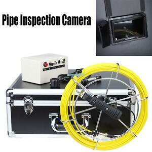 Dvr Recording 100ft 7 Lcd Drain Sewer Pipe Inspection Camera Video Endoscope