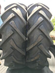 Pair Of 16 9x24 8 Ply R1 Rear Tractor Tires