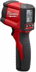 Milwaukee 10 1 Infrared Thermometer Temperature Measuring Gun Tool Lcd Display