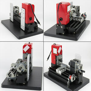 Mini Wood Working Lathe Motorized Machine Diy Tool Model Wooden Making Crafts Ce