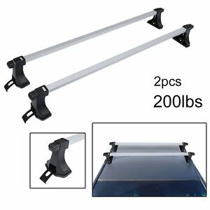 48 Aluminum Car Top Cross Bar Crossbar Roof Rack Pair For Cargo Luggage As