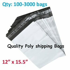 100 3000 12x15 5 Poly Mailers Shipping Envelope Self Seal Plastic Bags For Usps