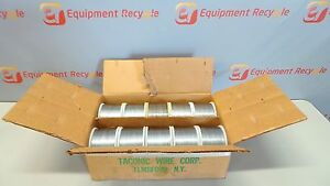 Taconic Wire Spools 5lb 21x25 Gauge Flat Stitcher Stitching New Lot Of 10