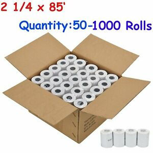 50 500 Rolls 2 1 4 X 85 Thermal Paper Credit Card Pos Cash Register Receipt