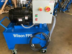 35 16018 wilson Company Hydraulic Power Unit 15hp 7 8gpm 30gal jic New